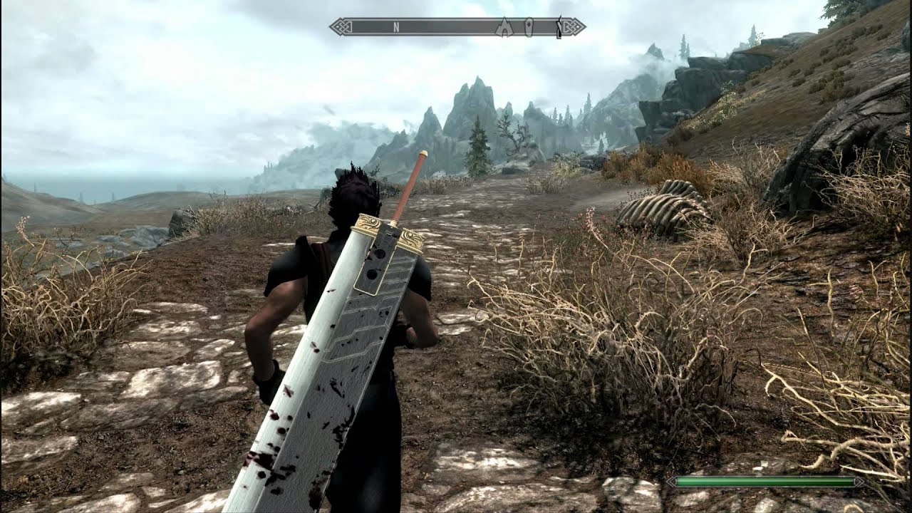 Skyrim Zack Fair and Cloud Strife mod