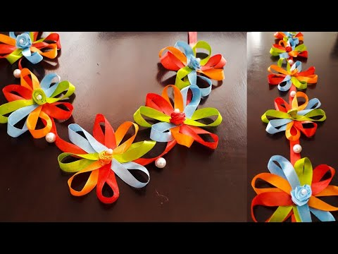 Diwali Decoration ideas |Unique Toran or Bandhanwar from Ribbons | Door hanging |Quicky Crafts