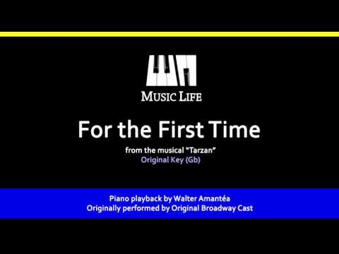 For the First Time (Tarzan) - Piano Playback for Cover / Karaoke