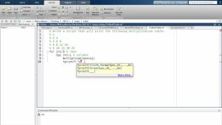 Topic 4: Matlab's Nested Loops