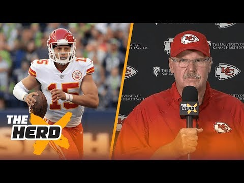 Andy Reid discusses Patrick Mahomes one day replacing Alex Smith, more | THE HERD (FULL INTERVIEW)
