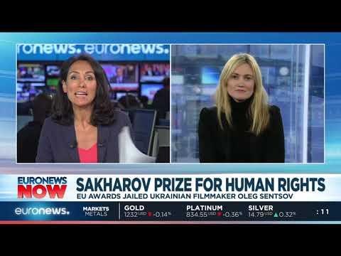 2018 Sakharov Prize for Human Rights awarded to jailed Ukrainian filmmaker Oleg Sentsov