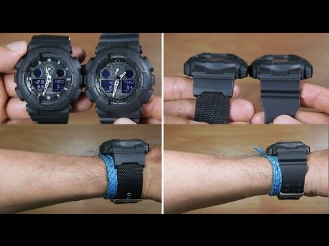 Casio G Shock Ga 100bbn 1a Vs G Shock Ga 100 1a1 Resin Band Vs Cloth Band