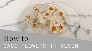 How to cast flowers in resin