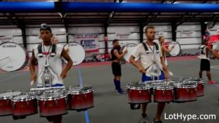 Bluecoats 2016 run but every time they hit a rim shot it gets faster.