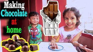 Baby cooking chocolate making at home | Bangladeshi baby food recipe | Toppa youtube channel