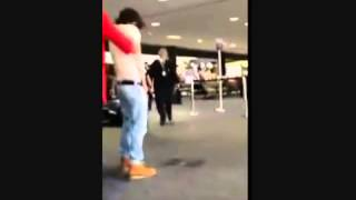 Twilight Star Bronson Pelletier Urinating at Aiport