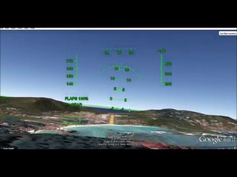 F-16 Landing at St. Barthelemy in Google Earth
