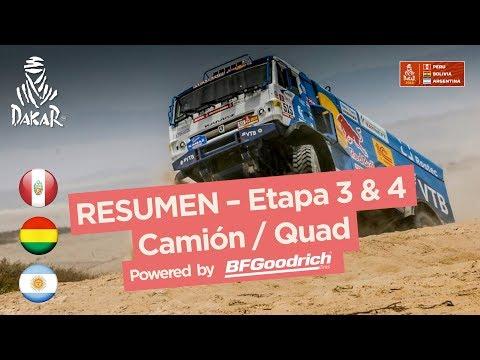 Resumen - Camiones/Cuadriciclos/SxS - Etapa 4  - Dakar 2018