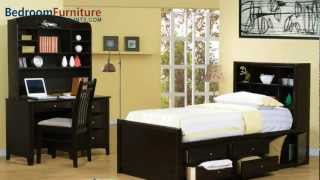 Coaster Phoenix Youth 4pc Chest Bed Bedroom Set In Cappuccino