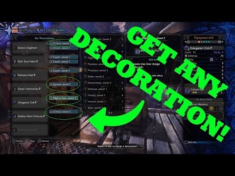 How to get ANY decoration from the Elder Melder in Monster Hunter World! (Works on Ver. 4.01)