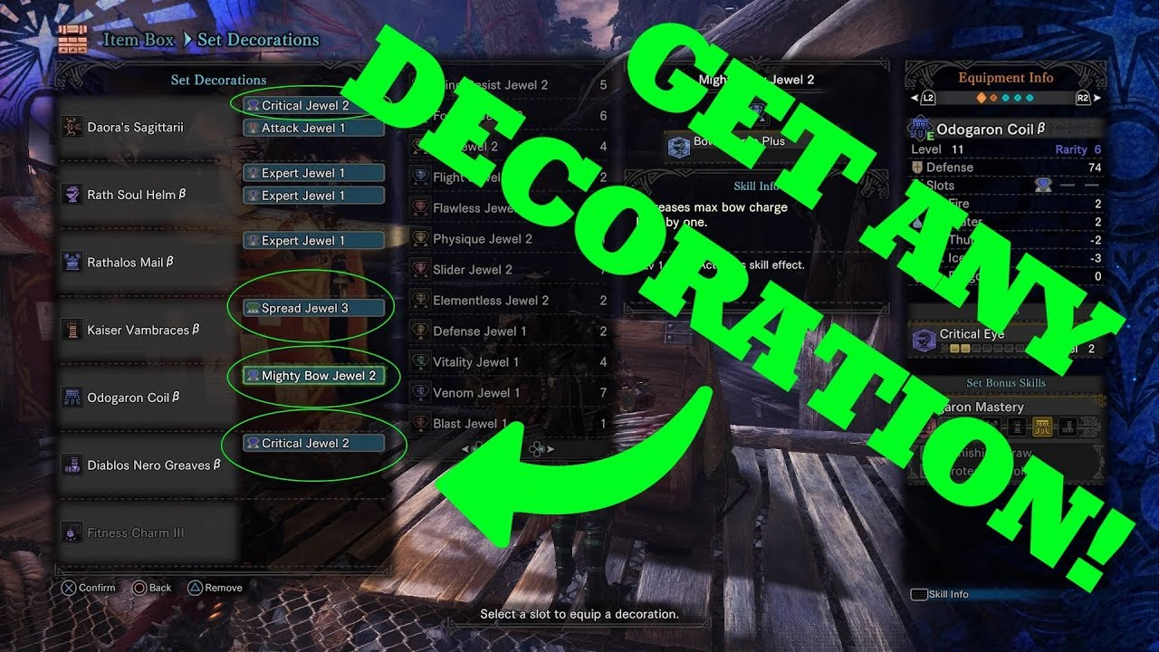 How to get ANY decoration from the Elder Melder in Monster Hunter World!  (Works on Ver  5 21)