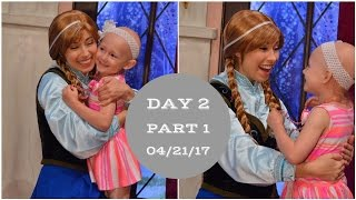 Getting warm hugs from Anna & Elsa! | Disneyland vlog #18