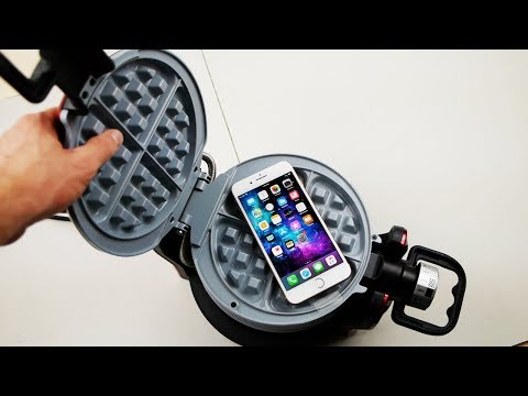 iPhone 8 Plus vs Waffle Iron Experiment