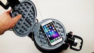 iPhone 8 Plus vs Waffle Iron Experiment