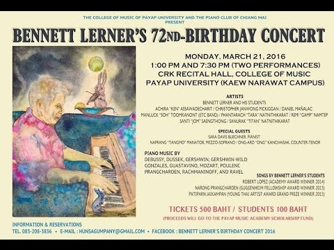 Bennett Lerner's 72nd-birthday Concert