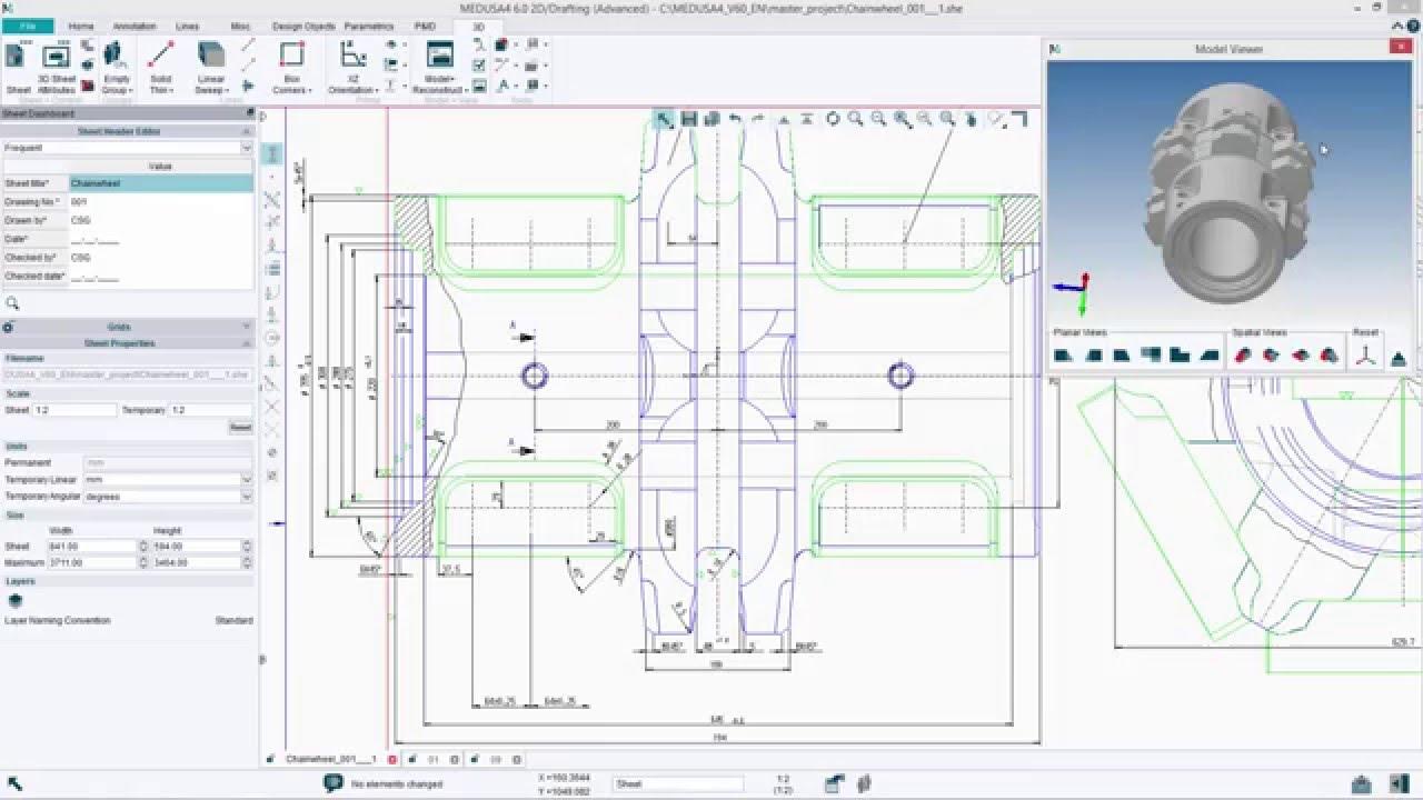 Un configurateur CAO dans le logiciel gratuit MEDUSA4