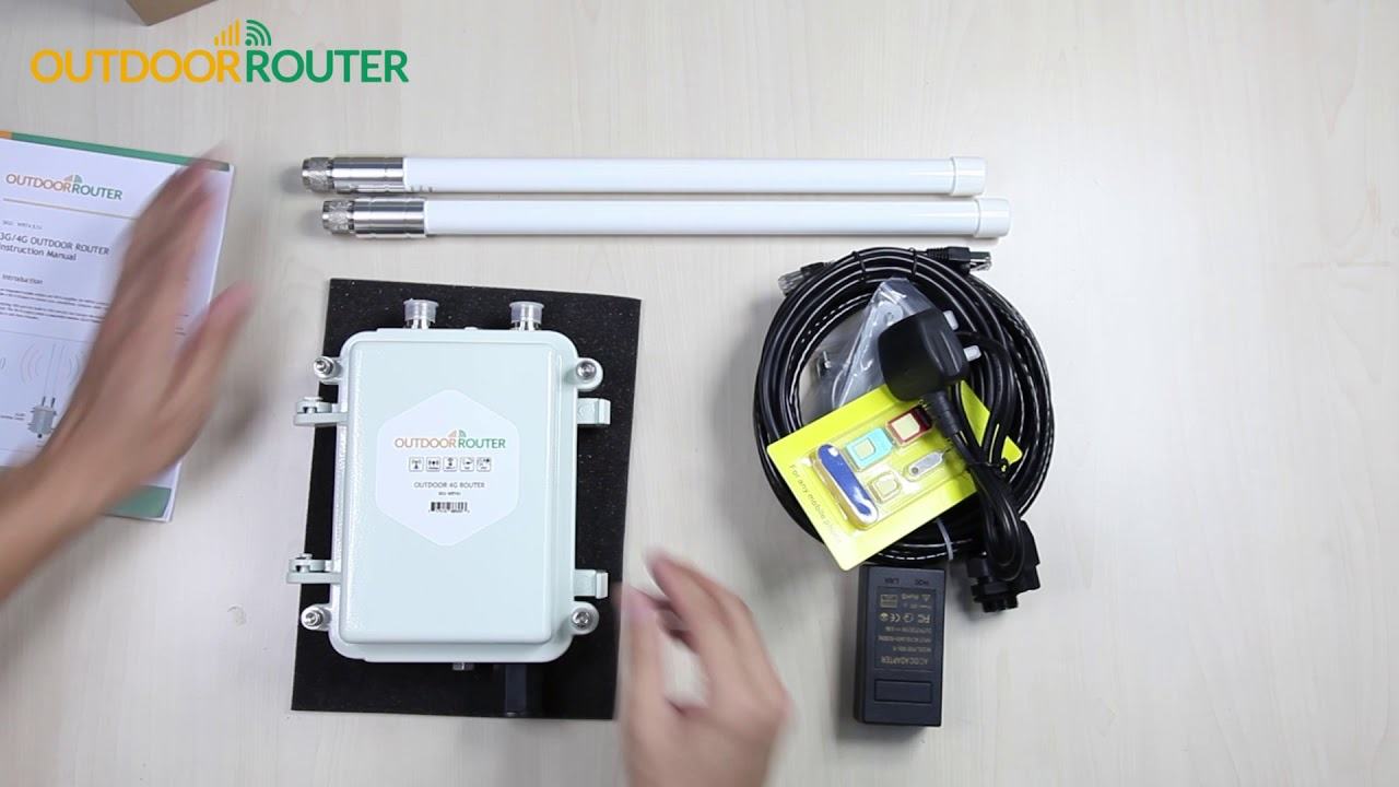 Unboxing Outdoor 4G WiFi Router - Package and Components of Outdoor Router