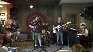 Sean, Zach and Odessa Performing Good Riddance Main Street Music and Art Studio