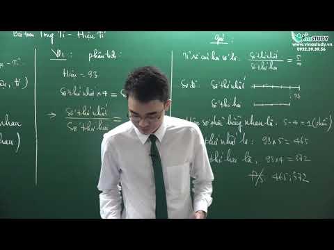 Kiến thức dạng toán tổng tỉ lớp 4 | Banmaynuocnong
