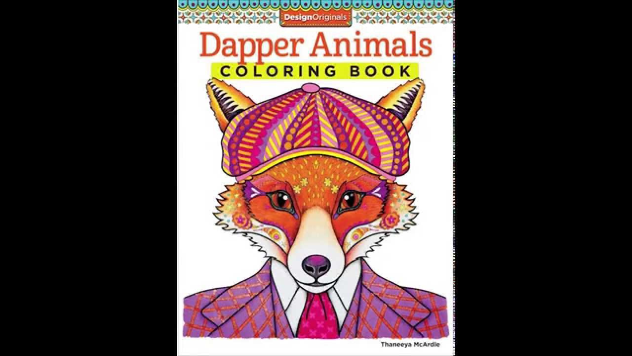 Dapper Animals Coloring Book Slideshow Youtube