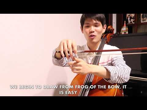 Cello Lessons: How to hold cello bow (ภาษาไทย- EN Subtitle)