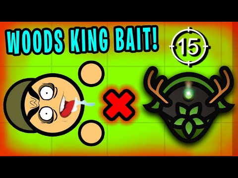 BAITING WITH THE WOODS KING HELMET! (Surviv.io Trolling)
