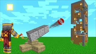 Minecraft DESTROY BEST FRIENDS HOUSE WITH A TNT CANNON !! DON'T STAND CLOSE !! Minecraft Mod