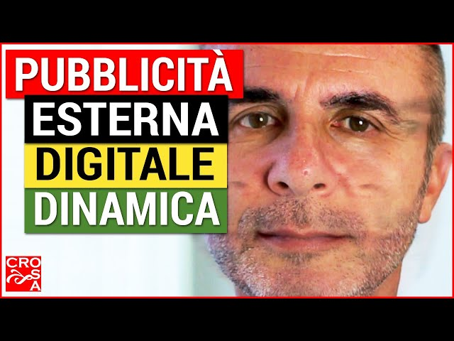 Pubblicità esterna digitale dinamica