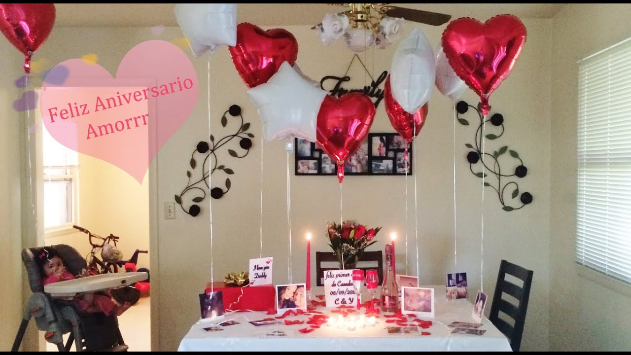 ideas de decoracion para aniversario cena romantica etc