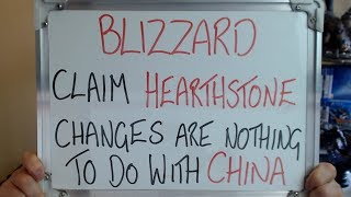 BL ZZARD Claim HEARTHSTONE Card Changes Nothing To Do With CH NA