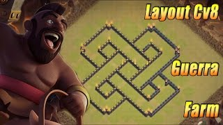 Clash of Clans Layout Cv8 Farm,Guerra e Anti DG