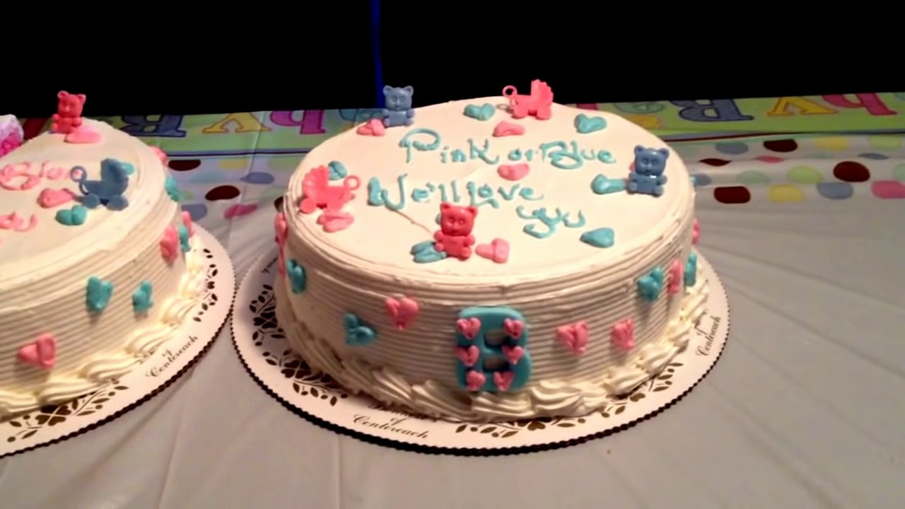 Twin Baby Gender Cake Reveal Youtube