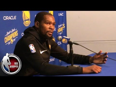 Kevin Durant, Quinn Cook, Steve Kerr talk Warriors' win without Steph Curry | NBA on ESPN