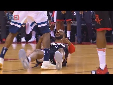 Chris Paul Gets Knocked Down By Jamal Crawford Then Taunts Him!