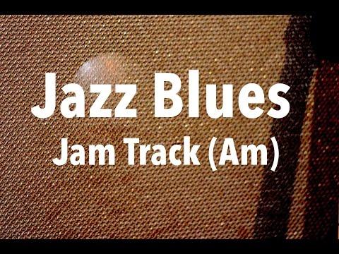 Jazz Blues Backing Track - Medium Up Swing (Am)