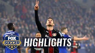 Lucas Alario doubles Leverkusen lead vs. Schalke 04 | 2018-19 Bundesliga Highlights