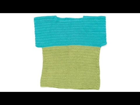 How to Crochet A Top: Color Block Top - XS - 5 XL