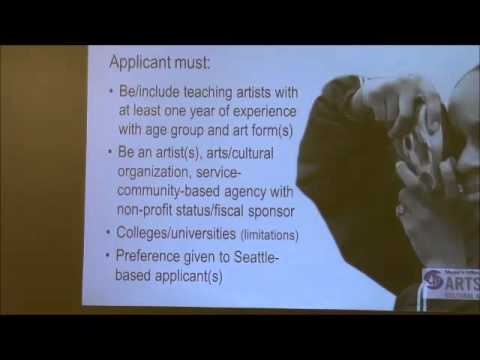 Youth Arts Grant Workshop