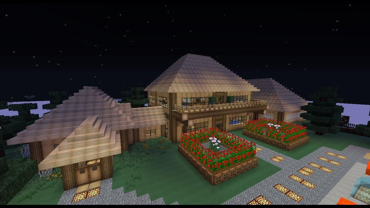 Minecraft casa rustica descarga 1 7 o m s youtube - Fotos de casas del minecraft ...