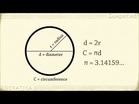Geometry: Introduction to Circles - radius, diameter, circumference and area of a circle