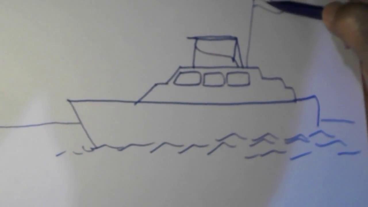 How To Draw A Ship In A Simple Way Cara Menggambar Kapal Dengan