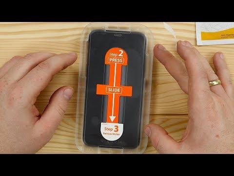 IPhone Xs Panzerglas Schutzfolie + POSITIONIERHILFE Von Spigen // Anbringen & Erster Test // DEUTSCH