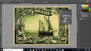 How To Create A Vintage Postage Stamp Photoshop Tutorial
