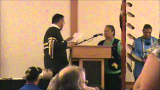 Sault Tribe of Chippewa Indians 2012 Board Installation July 9th.  Part 1