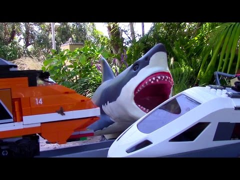 Thumbnail: Lego train station mega shark attack
