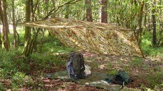4 BASHA-TARPS WILD CAMP IN THE WOODS