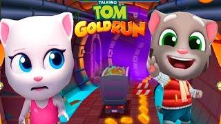 ТОМ ЗА ЗОЛОТОМ #111 ГОВОРЯЩИЙ ТОМ И ДРУЗЬЯ - Говорящая Анджела vs Морозный Котик Том - игры мультики