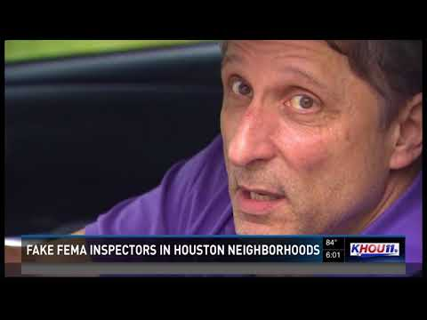 Fake FEMA inspectors in Houston neighborhoods
