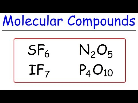 How To Name Covalent Molecular Compounds - The Easy Way ...